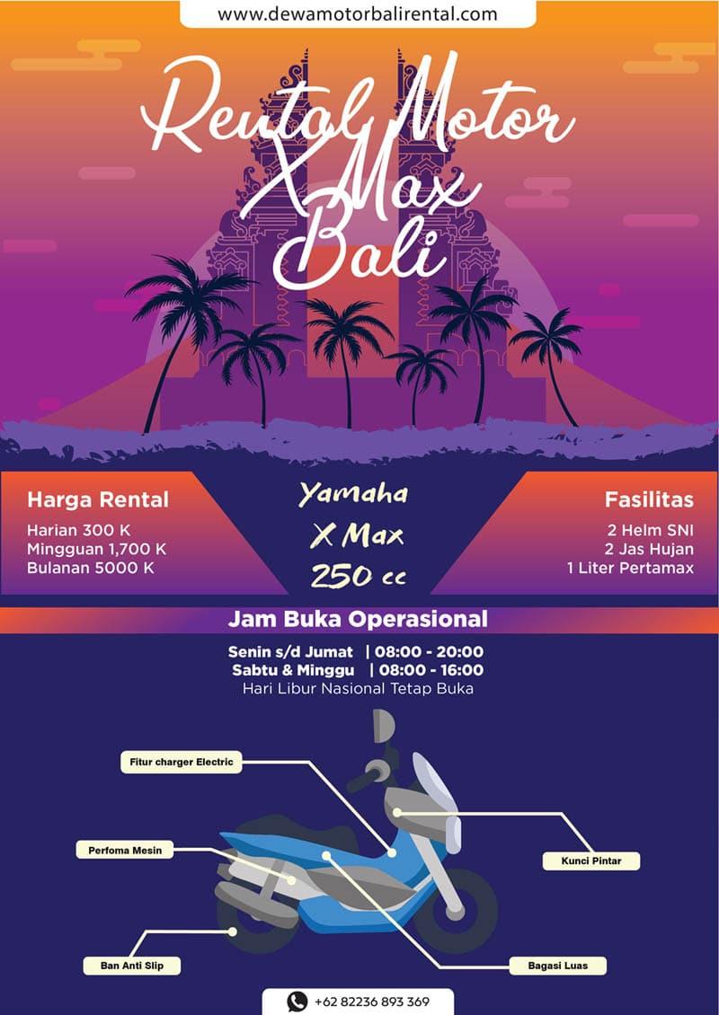 Infografis Rental Xmax di Bali - Rental Motor Xmax Bali - Satu-Satunnya Jasa Sewa Motor Xmax Terbaik