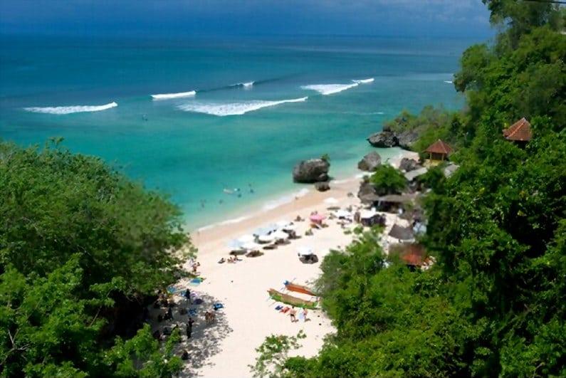 Pantai Padang Padang 1 - 15 Pantai Bagus di Uluwatu Pulau Dewata Bali